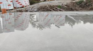 wash concrete floor
